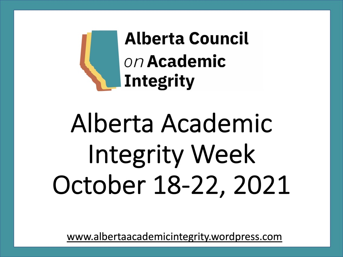 Alberta Academic Integrity Week 2021